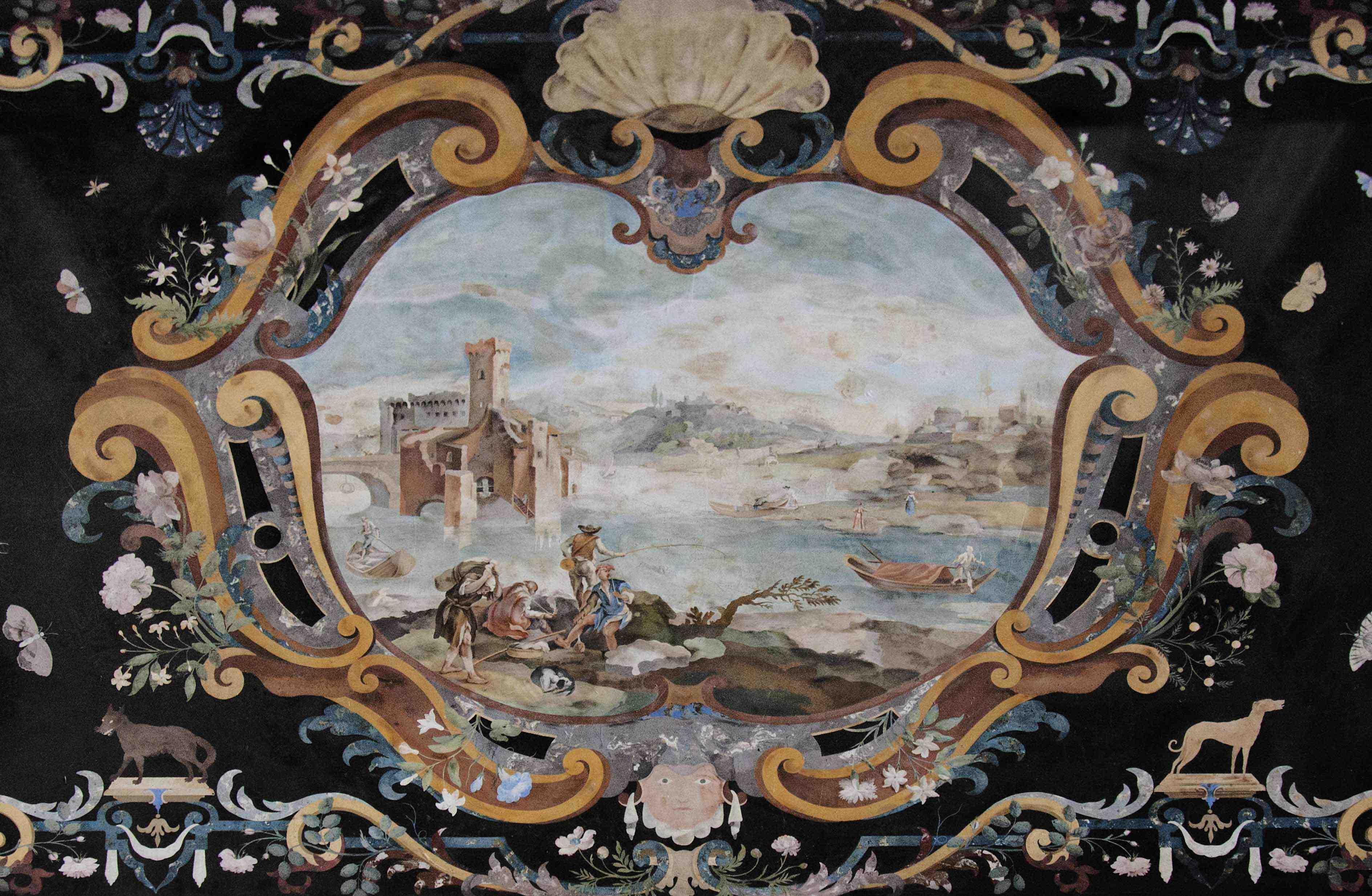 Fig 417 Scagliola Table